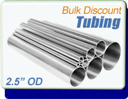 Stainless Steel Vacuum Tubing, 2.5 in. OD x 0.065, Polished, ISO63 CF4.0, Sold Per Ft