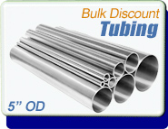 Stainless Steel Vacuum Tubing, 5.0 in. OD x 0.083, Polished, CF 6-3/4, Sold Per Ft