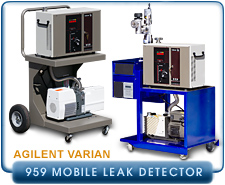 Agilent Varian 959 Mobile Cart Helium Leak Detector, with Adixen 2021SD or DS-302 Backing Pump