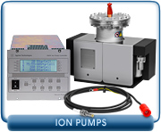 Agilent Varian VacIon 40, 55, 75, 150, 300 StarCell Ion Pump W/ 120 VAC heaters, 37-240 l/s pumping speed.