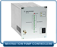 Agilent Varian MiniVac Mini Vac Ion Pump Controllers for Miniature and Small Ion Pumps