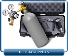 Helium Spray Probe Gun, Helium Bottle and Stage Brass Regulator, Portable Helium Leak Detector Units