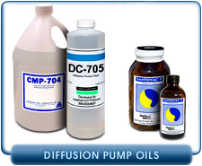Diffusion Vacuum Pumps Oils by Santovac 5 and Dow Corning for Alcatel Edwards Leybold Varian CVC and other Diffusion Pumps