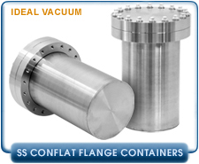 Storage Containers used for storage of plutonium metal, Bolt Kit For 6.00 In. Conflat Tapped Bolt Hole Flanges, Silver-Plated 6-Point Hex Bolts & Washers