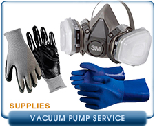 Blue PVC Coated Gloves, Nitrile Coated Gloves, Large,   Respirator 3M 6211, Recommended For Vacuum Pump Oil Change And Preventive Maintenance