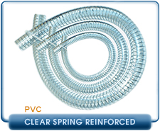 PVC Foreline Clear Steel Spring Reinforced Vacuum Hose