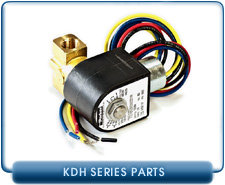Kinney KDH Series Oil Supply Solenoid Valve, 1/4 Inch Female