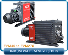 Edwards Industrial E2M Series Rebuilt Rotary Vane Vacuum Pumps Rebuilt & Repair Gasket Kits