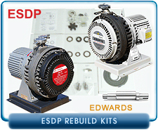 Edwards ESDP Dry Scroll Vacuum Pump Rebuild and Repair Kits - ESDP12, ESDP30