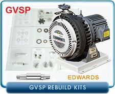 Edwards GVSP Dry Scroll Vacuum Pump Rebuild and Repair Kits - GVSP30