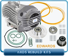Edwards nXDS6 & nXDS10 Dry Scroll Pumps Bearing Replacement Kit. Edwards nXDS Dry Scroll Pumps Tip Seal Service Kit.