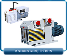Leybold B Series Rotary Vane Vacuum Pump Rebuild and Repair Gasket Kits