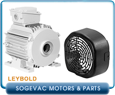 Oerlikon Leybold SV40B Replacement Motor for Sogevac Pumps, 2HP 60HZ 230/460V, Module Covers for Sogevac SV65B & SV100B Rotary Vane Vaccum Pumps