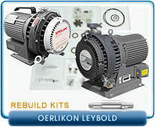 Oerlikon Leybold Dry Scroll Pump Rebuild and Repair Kits - SC5D, SC15D, SC30D