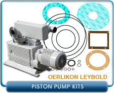 Leybold E75 Rotary Piston Vacuum Pump Minor Gasket Repair, Rebuild or Refurbish Kit