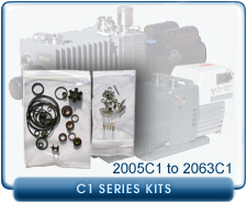 Adixen Alcatel 2005C1 Vacuum Pump Major Repair, Rebuild, or Refurbish Kit