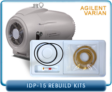 Agilent IDP-15 Dry Scroll Vacuum Pump Tip Seal Replacement Kit.