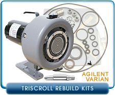 Varian TriScroll Dry Scroll Vacuum Pump Rebuild and Repair Kits - TriScroll 300 & TriScroll 600