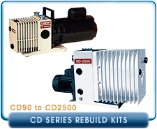 Varian Chemical Service Vacuum Pump Kits - CD90 to CD2500 Series Kits