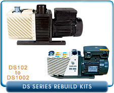 Varian DS Series Rotary Vane Vacuum Pump Rebuild and Repair Gasket Kits