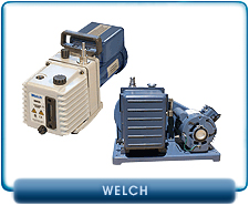 New Welch Rotary Vane Vacuum Pumps - DuoSeal Belt Driven and Direct Torr Direct Drive Vacuum Pumps