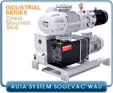 Oerlikon Leybold SV100B, SV200, SV300B, SV600B, WAU-251, WAU-501, WAU-1001, WAU-2011 RUTA Vacuum Pump System, Rotary Vane Direct Mounted Roots Blower