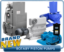 New Rotary Piston Vacuum Pumps