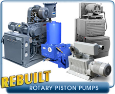 Rebuilt Rotary Piston Vacuum Pumps - Rebuilt Edwards, Kinney, Leybold, and Stokes Rotary Piston Vacuum Pumps