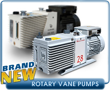 New Rotary Vane Vacuum Pumps - Alcatel, Edwards, Leybold, Varian, and Welch