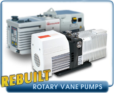 Rebuilt Rotary Vane Vacuum Pumps - Alcatel, Busch, Edwards, Labconco, Leybold, Pfieffer, Savant, Stokes, Varian, and Welch
