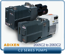rebuilt Alcatel Adixen 2010C2 2010 C2 Pascal Dual Stage Rotary Vane Vacuum Pump refurbished
