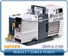 REBUILT Alcatel Adixen Analytical 2005I 2005 I Pascal Dual Stage Rotary Vane Vacuum Pump