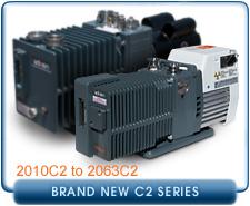 New Alcatel Chemical C2 Series Rotary Vane Vacuum Pumps