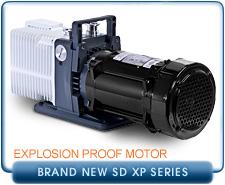 Brand NEW Alcatel Adixen 2005SD-2021SD XP, Explosion Proof Motor, Rotary Vane Vacuum Pump, 1-Phase 115/220 VAC