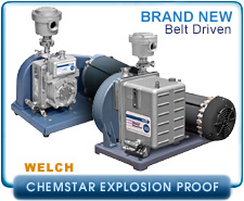Brand New Welch 1400N, 1402N ChemStar Explosion Proof Vacuum Pump, Chemical Resistant, Rotary Vane