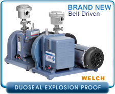 Welch 1400W, 1402W, 1405W DuoSeal Explosion Proof Vacuum Pump, Rotary Vane, Dual Stage, New