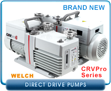 Welch CRV Pro4 Direct Drive Dual Stage Mechanical Rotary Vane Vacuum Pump
