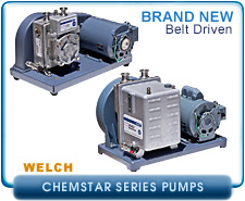 new Welch 1400N chemstar Vacuum Pump for Pumping Corrosive Gases, 115VAC