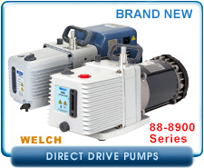 New Welch Direct Drive Vacuum Pumps - 8905, 8910, 8915, 8925