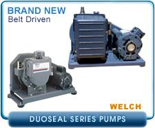 New Welch Belt Driven Vacuum Pumps - 1400, 1402, 1397, 1307, 1374, 1398, 1405
