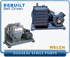 Welch DuoSeal Belt Driven Series Rebuilt Rotary Vane Vacuum Pumps