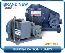 Brand New Welch 1402B-46, 1376B-46, 1397B-46, Refrigeration Series DuoSeal Belt Drive Rotary Vane Vacuum Pump