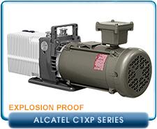 Alcatel Adixen 2010C1, 2015C1, 2021C1 Corrosive, XP Explosion Proof Motor, Rotary Vane Pump, 1-Phase 115/220 VAC