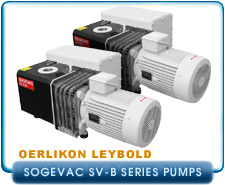 Oerlikon Leybold Sogevac Series Rotary Vane Single Stage Vacuum Pumps - SV10B to SV100B