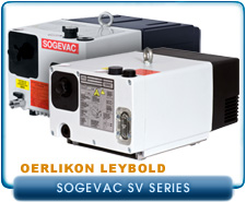 Oerlikon Leybold Sogevac SV16D, SV Single Stage Rotary Vane Vacuum Pump, 1 or 3-Phase