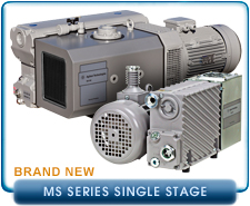 NEW Agilent Varian MS-301 High Capacity Rotary Vane Pump, 170 CFM, Inlet 2 in. NPT, 208/460 VAC