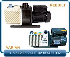 Varian DS Series Rebuilt Rotary Vane Vacuum Pumps
