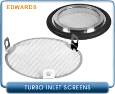 Edwards ISO-100 Inlet Flange Centering ring w/screen for nEXT240/300 Turbo Pumps, Coarse, B81000808, B81000809 , 0000821, 0000822, 0000823, 0000826