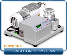 Edwards T-Station Turbo Pumping Station 75 With E2M1.5 Rotary Vane or XDD1 Diaphragm Pump and NW40, ISO63 or CF63, Inlet