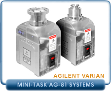 New Varian MiniTask AG81 Dry Turbo Systems